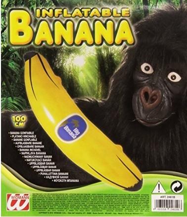 Banana grande gonfiabile per carnevale