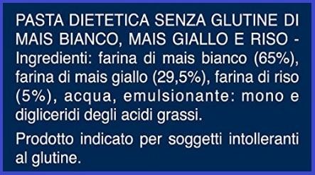Pasta dietetica e senza glutine tortiglioni
