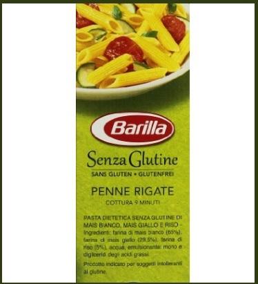 Penne rigate senza glutine barilla