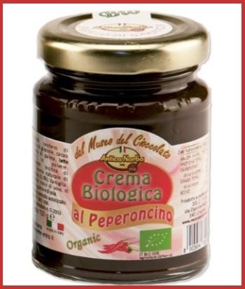 Crema spalmabile al cioccolato con peperoncino senza glutine