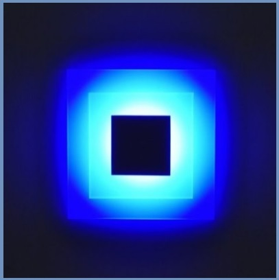 Led per parete notturno dal colore blu in plexiglass