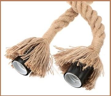 Lampada sospesa a forma di corda vintage e moderno