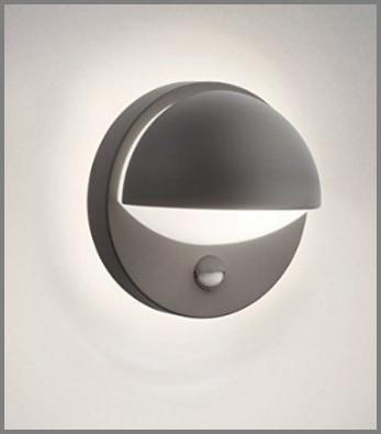 Lampada in alluminio con sensore per esterni philips