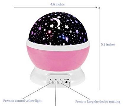 Lampada per bambini notturna con proiettore stelle