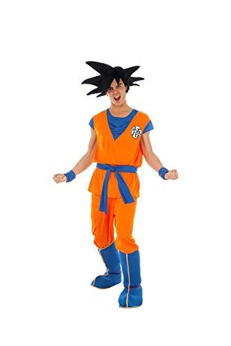 papapanda Bambini Costume per Son Goku Vestito Abbigliamento Allenamento S