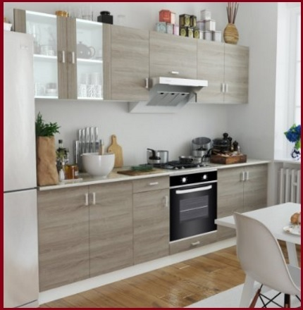 cucina moderna noce chiaro con anta a telaio cucine palermo