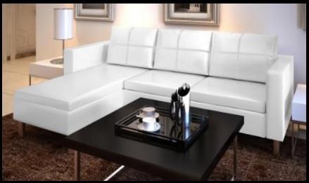 Divano in pelle trapuntato bianco o nero divani palermo - Divano in pelle nero ...