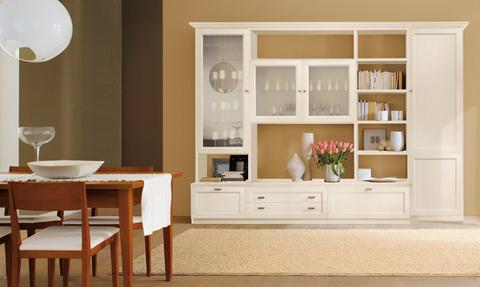 Parete classica bianca in offerta roma grandi sconti ingrosso arredamenti roma - Parete soggiorno classica ...
