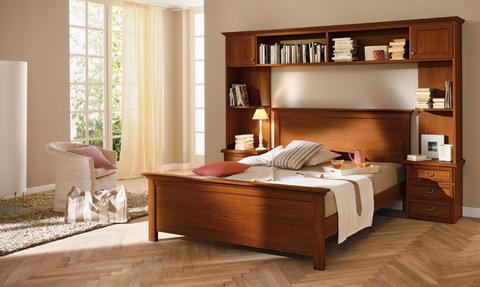 Classico letto con soppalco in noce roma grandi sconti - Soppalco camera matrimoniale ...