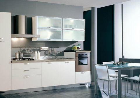 Cucina anta ecologica bianca e vetro satinato bianco  Grandi Sconti  Arredamenti a Roma ...