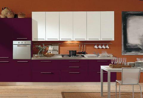 Cucina moderna tempera laccata bianco e melanzana lazio | Grandi ...