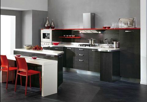 Cucina design particolare tempera legno rovere grigio for Ingrosso arredamenti roma