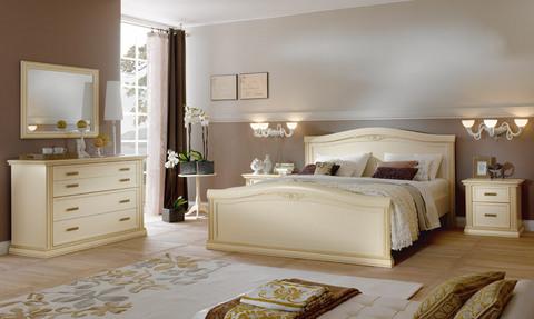 ... camera matrimoniale classica avorio roma - Camere da letto Roma