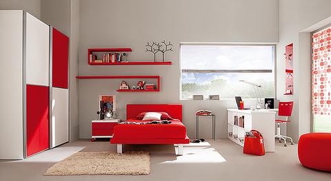 Cemeretta bianca e rossa armadio ante scorrevoli lazio