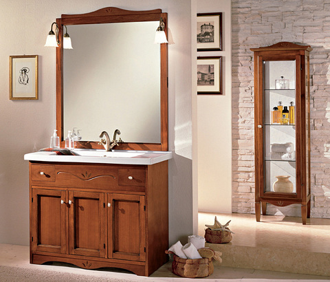 Mobile bagno design classico in noce lazio | Grandi Sconti ...
