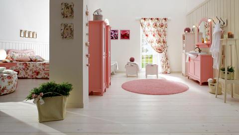 Arredo bagno classico laccato opaco rosa lazio