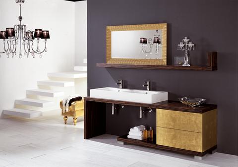 Colonna bagno in noce anta e fianchi in vetro roma for Arredi bagno roma