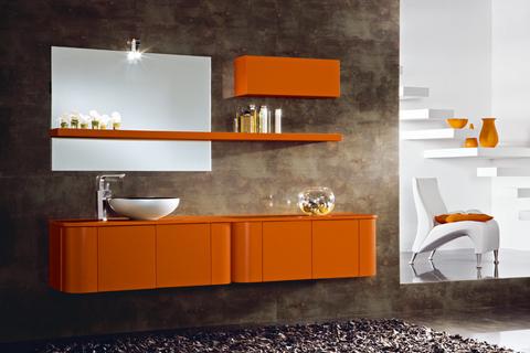Mobile bagno sospeso mandarino opaco roma grandi sconti arredamenti a roma qualit e convenienza - Mobile bagno usato roma ...