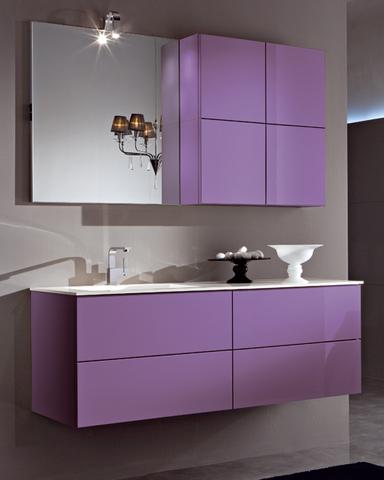 Mobile bagno in promozione lilla lucido roma