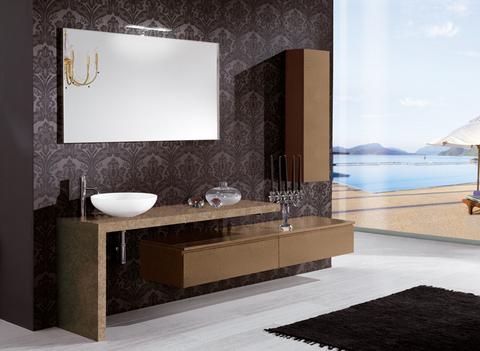 Offerta arredo bagno piano in marmo lazio | Grandi Sconti ...