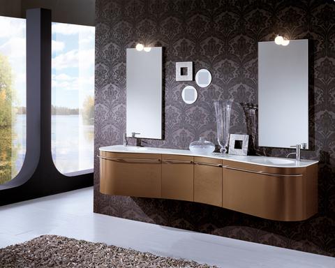 Mobile bagno inpiallacciato rovere europeano lazio grandi sconti arredamenti a roma qualit - Mobile bagno usato roma ...
