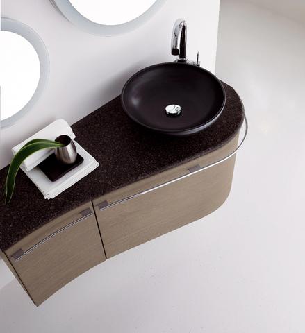 Mobile melanzana,piano in marmo,lavabo pancino roma