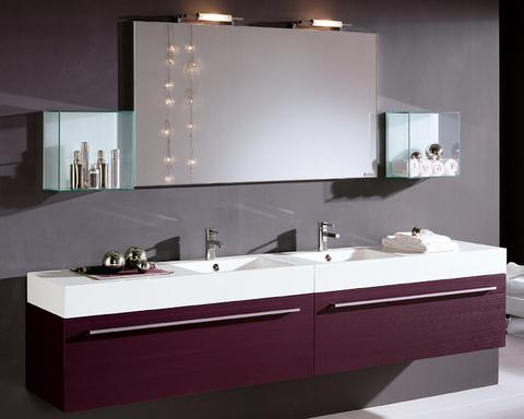 Mobile legno melanzana con venature doppio lavabo lazio for Sconti mobili roma