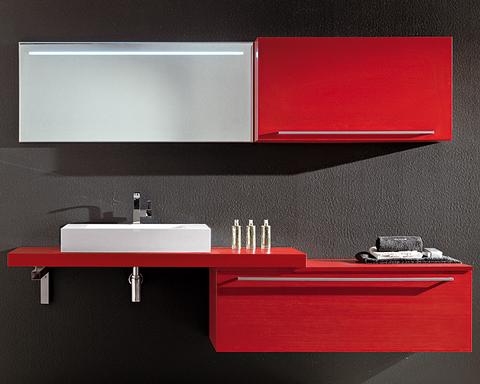 Mobile bagno sospeso con colonna roma arredi bagno roma for Arredi bagno roma