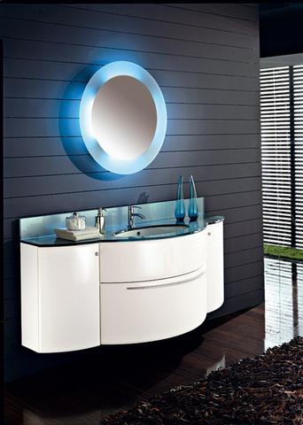 Mobile bagno con cestone curvo piano in cristallo roma - Mobile bagno usato roma ...