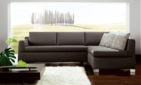 Divano angolare grigio roma grandi sconti ingrosso arredamenti roma - Divano angolare grigio ...