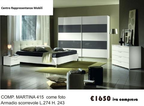 Camera completa letto ecopelle roma