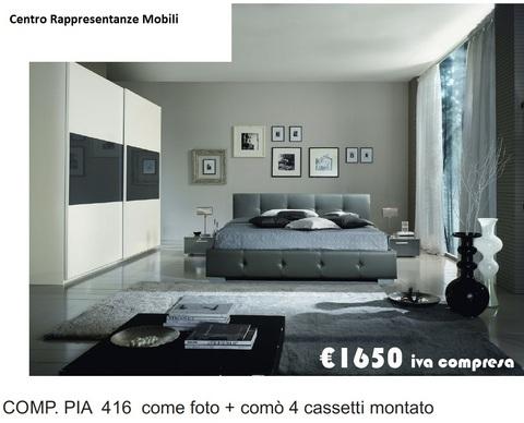 Camera completa letto imbottito roma grandi sconti for Ingrosso arredamenti roma