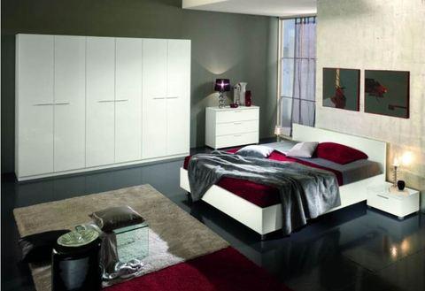 Camera moderna completa bianco opaco terni