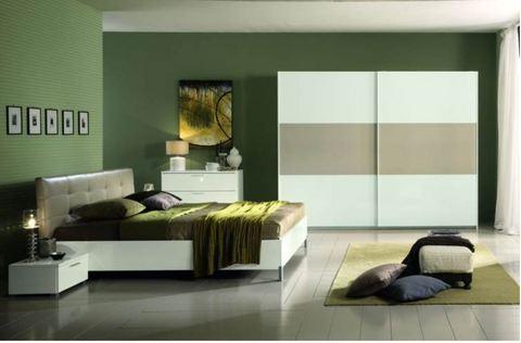 Camera moderna letto ecopelle impunturato rieti