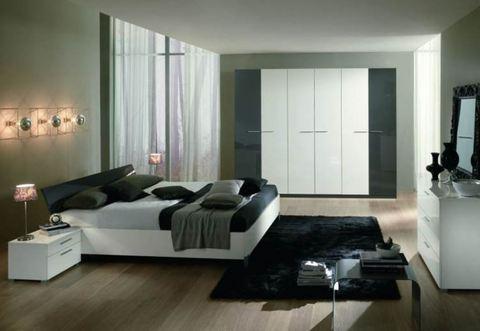 Camera moderna lucida due colori viterbo