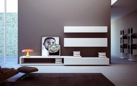 Mobile soggiorno bianco opaco