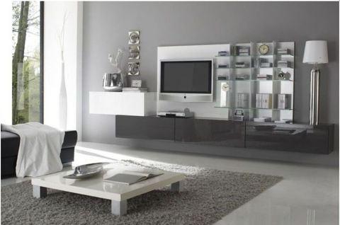 Arredo Soggiorno Moderno Bianco: Arredamento moderno bianco di render d soggiorno u foto stock.