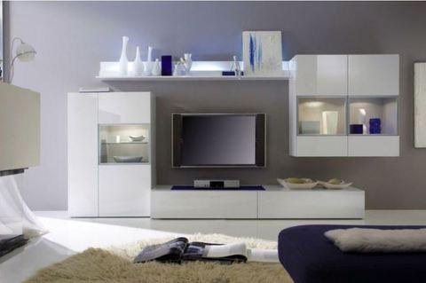 soggiorno moderno bianco lucido in promozione rieti sconto del 30 soggiorni grandi sconti. Black Bedroom Furniture Sets. Home Design Ideas