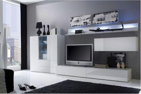 Soggiorno moderno con porta tv  civitavecchia