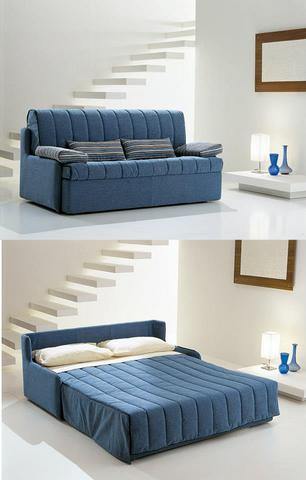 Divano letto azzurro idee per il design della casa - Divano letto a roma ...
