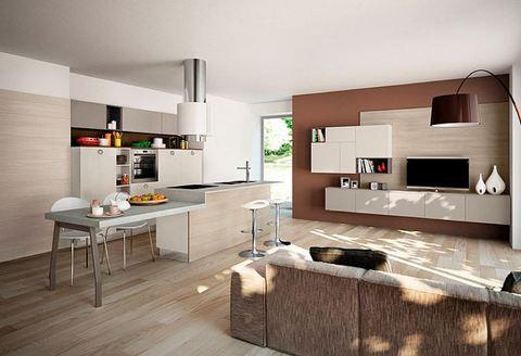 Cucina moderna con soggiorno roma