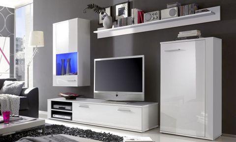 Mobile soggiorno bianco lucido lazio