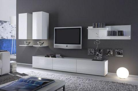 Mobile soggiorno bianco lucido in promozione rieti