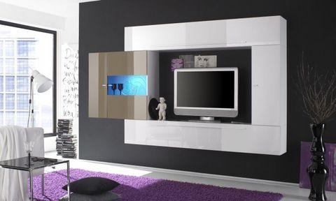 Nuovo mobile soggiorno bianco e nocciola lazio