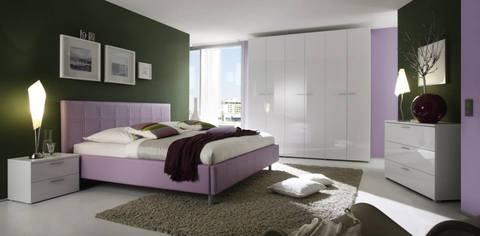 Camera matrimoniale lilla e bianco lc mobili rieti