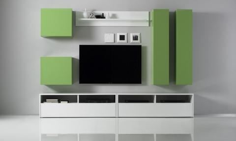 Nuovo soggiorno laccato bianco e verde frosinone