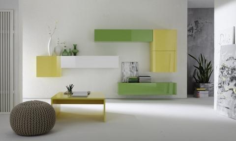 Soggiorni moderni nuovi colori laccati lucido terni