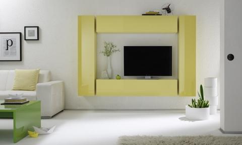 Soggiorno moderno sospeso giallo lucido viterbo