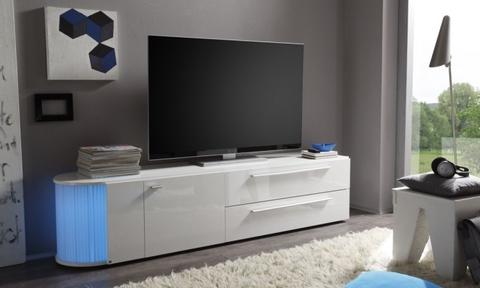 Mobile tv bianco con luci led frosinone grandi sconti for Il mobile frosinone
