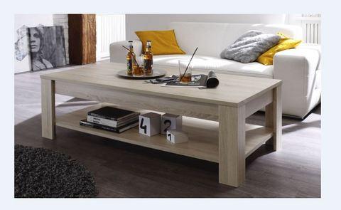 Tavolino da salotto in rovere rustico roma